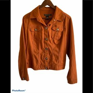 Baccini rust colour Jean jacket with jewel buttons